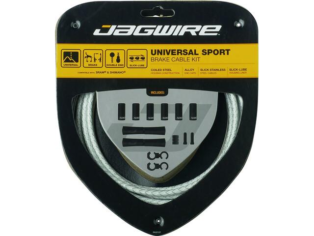 Jagwire Sport Set cavo del freno universale per Shimano/SRAM, white